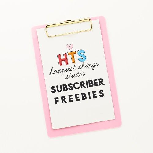 Subscriber Freebies