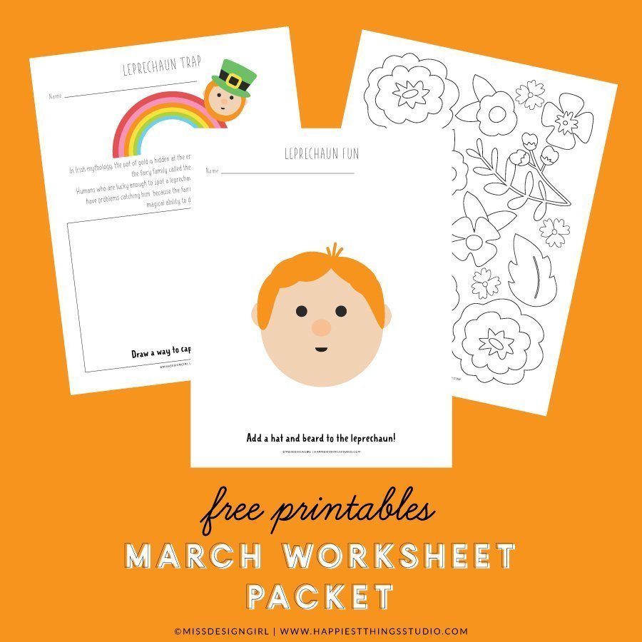 March Worksheet Packet