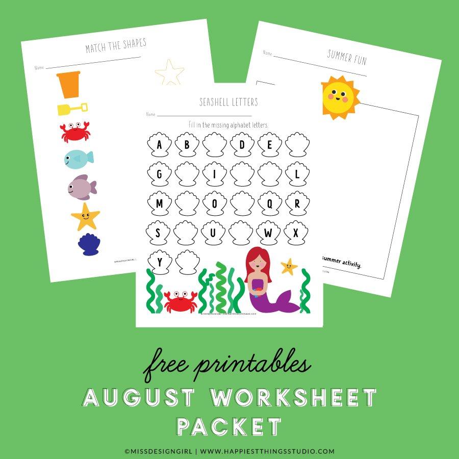 August Worksheet Packet