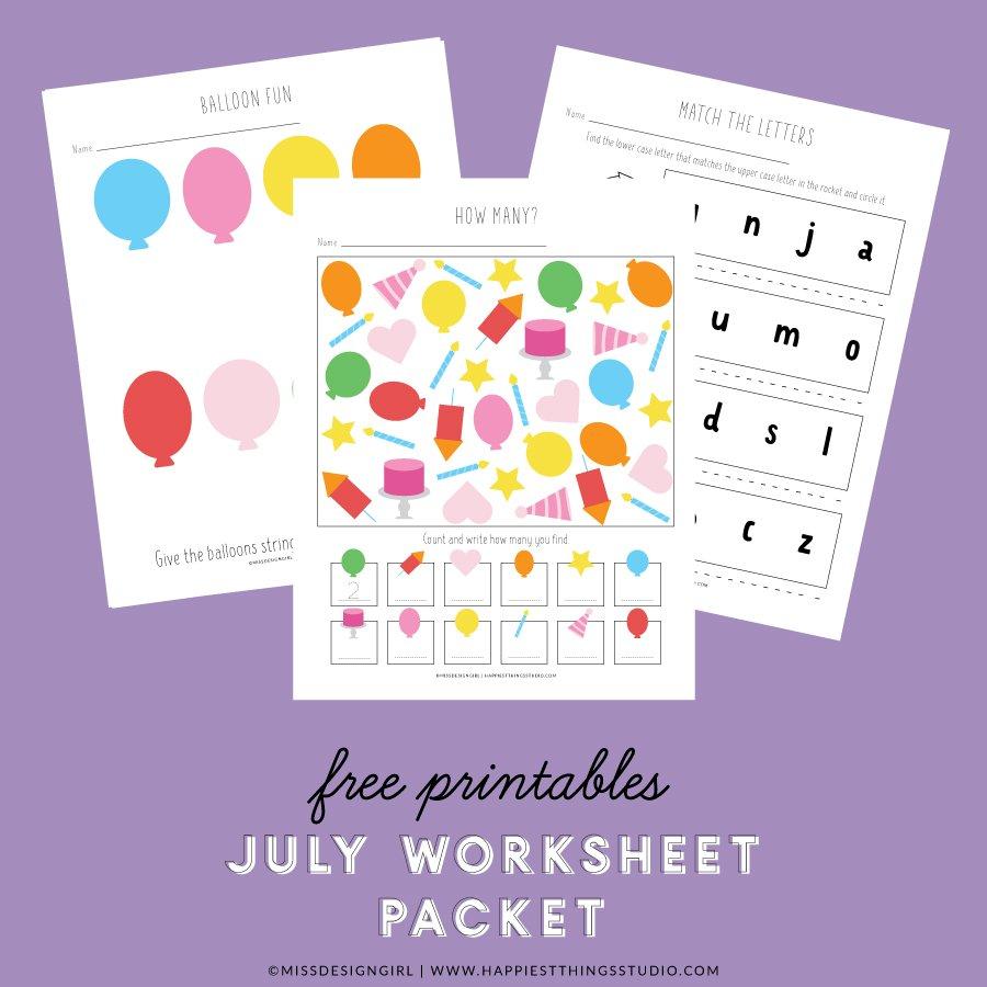 July Worksheet Packet
