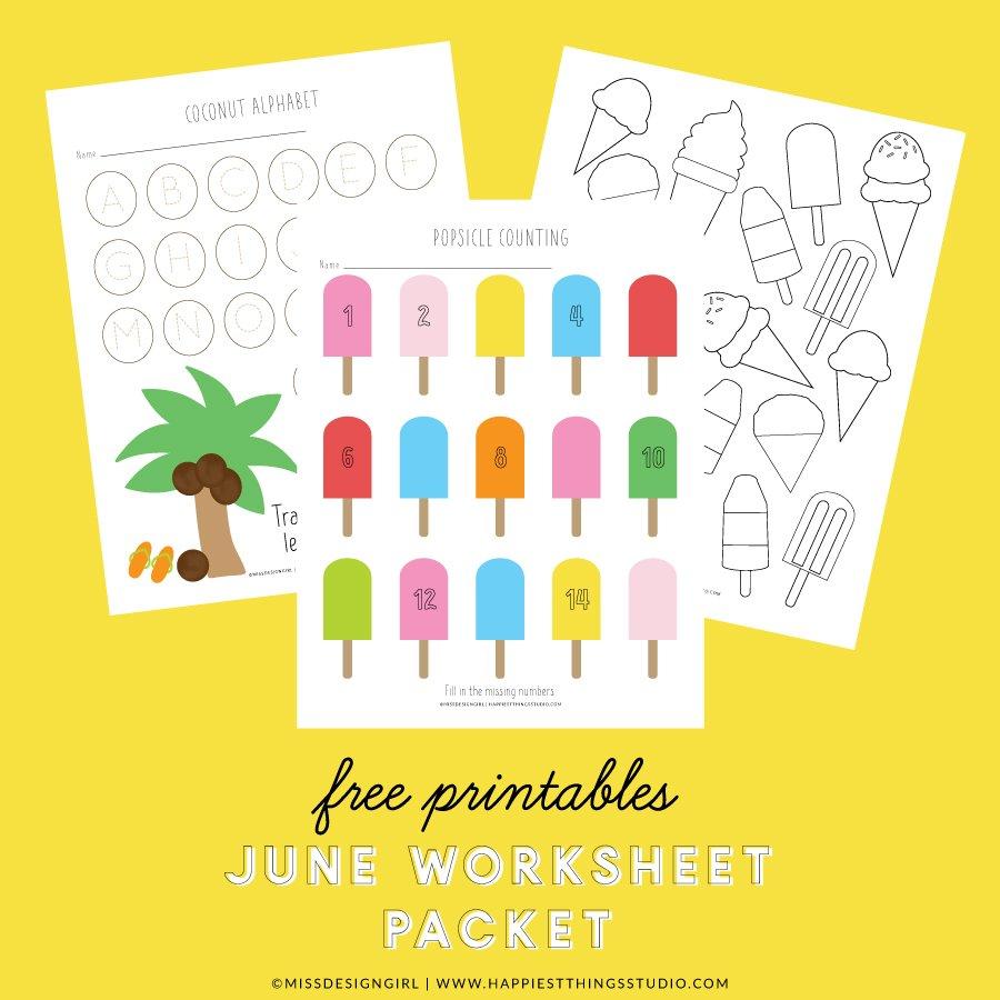 June Worksheet Packet