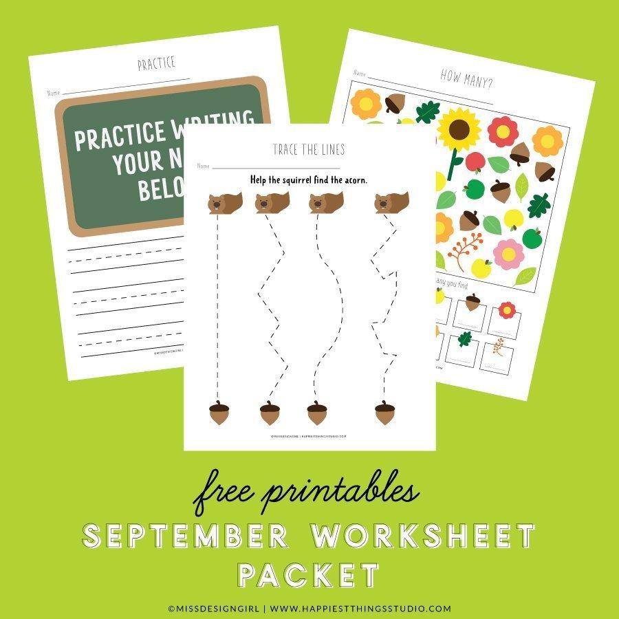 September Worksheets